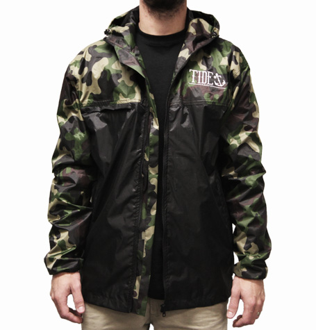 CAMO/BLACK SPRAY JACKET